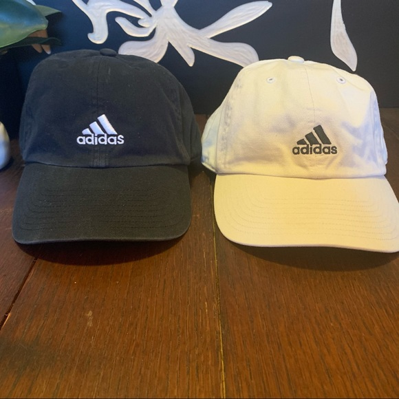 2 for $20 Adidas black hat and white hat